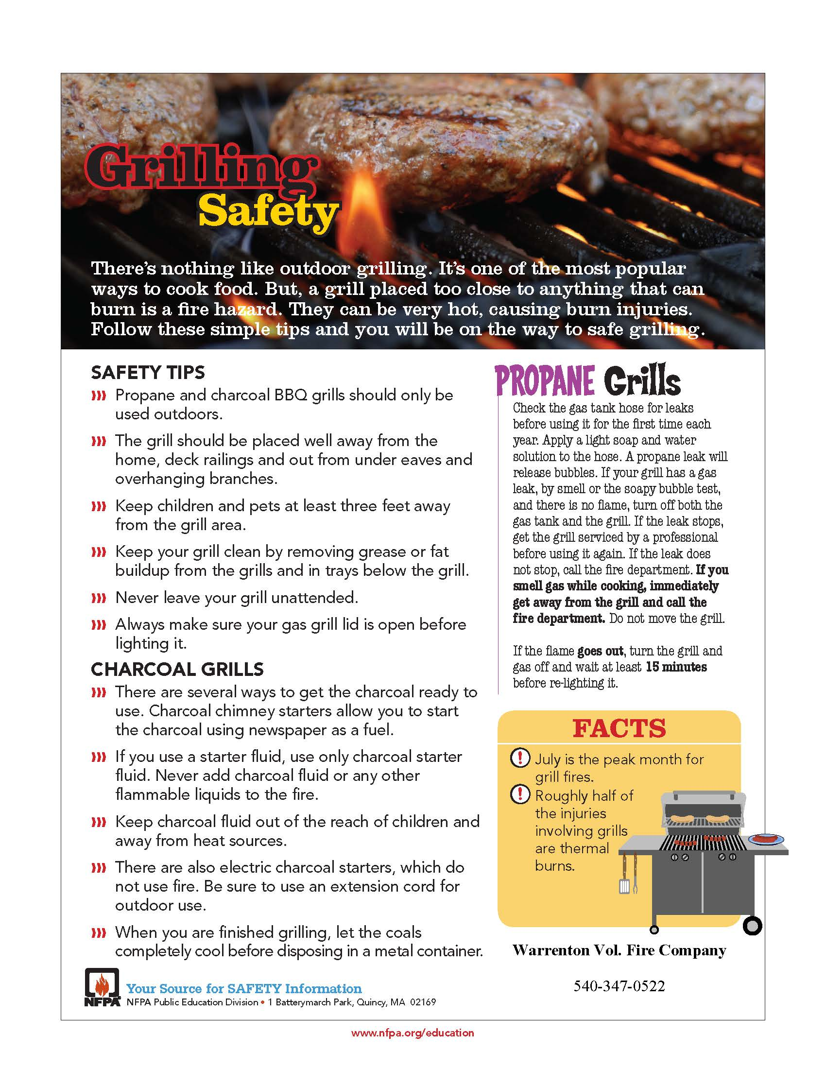 Fire Safety Tips For Grilling Warrenton Vol Fire Co